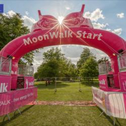 Giant Inflatable Moonwalk Start Race Arch